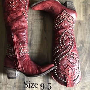 Old Gringo 9.5 Red Belinda Boots